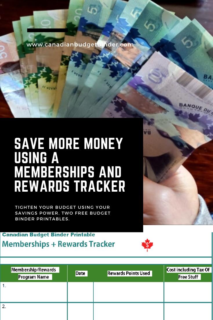 Save More Money Using A Memberships And Rewards Tracker (Free Budget Binder Printable)