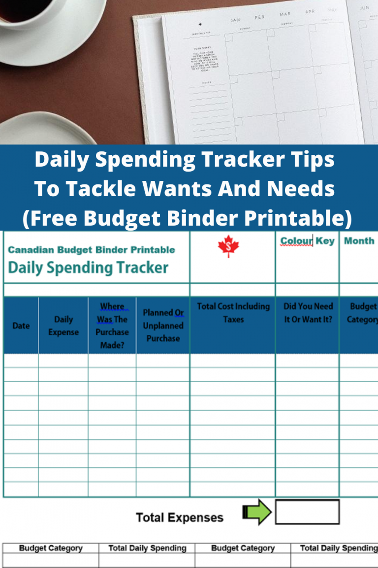 Daily Spending Tracker Tips To Tackle Wants And Needs (Free Budget Binder Printable) : July 2020 Budget Update