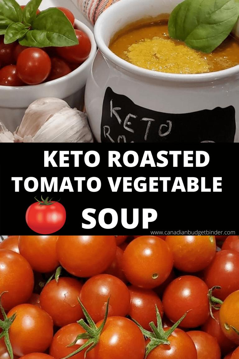Keto Roasted Tomato Vegetable Soup