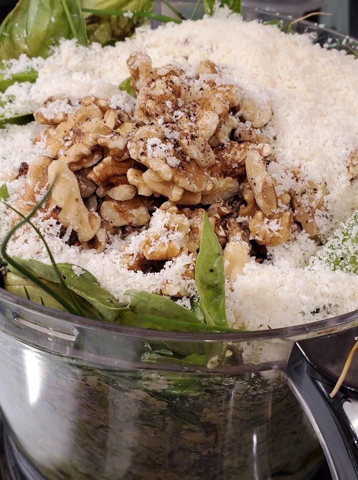 Walnut Basil Pesto Ingredients