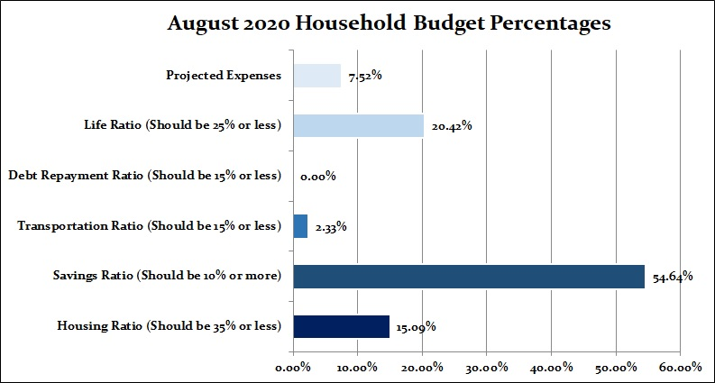 Household budget expenses chart