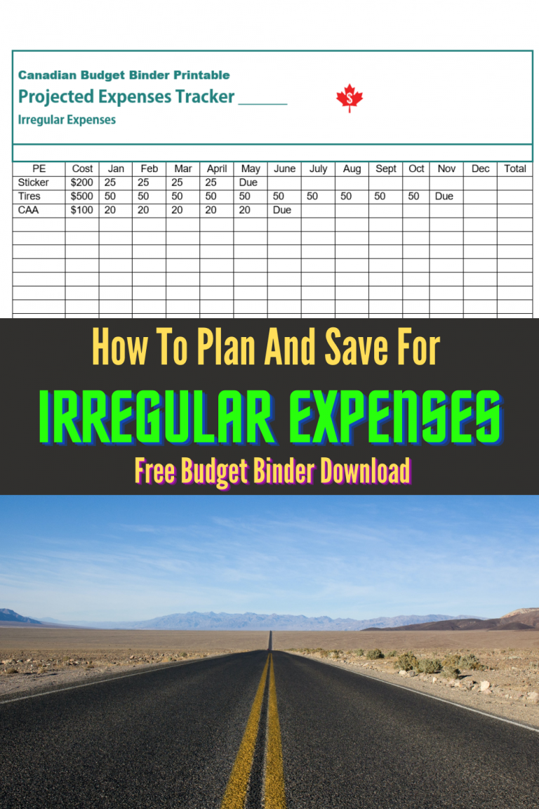 How To Budget And Plan For Irregular Expenses (Free Budget Binder Printable) : August 2020 Budget Update