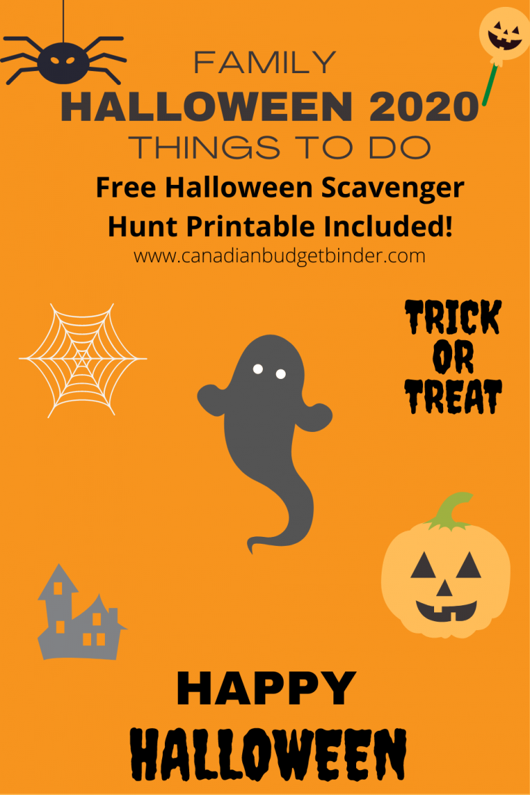 Halloween 2020 Things To Do (Free Halloween Scavenger Hunt Printable) : The Saturday Weekend Review #315
