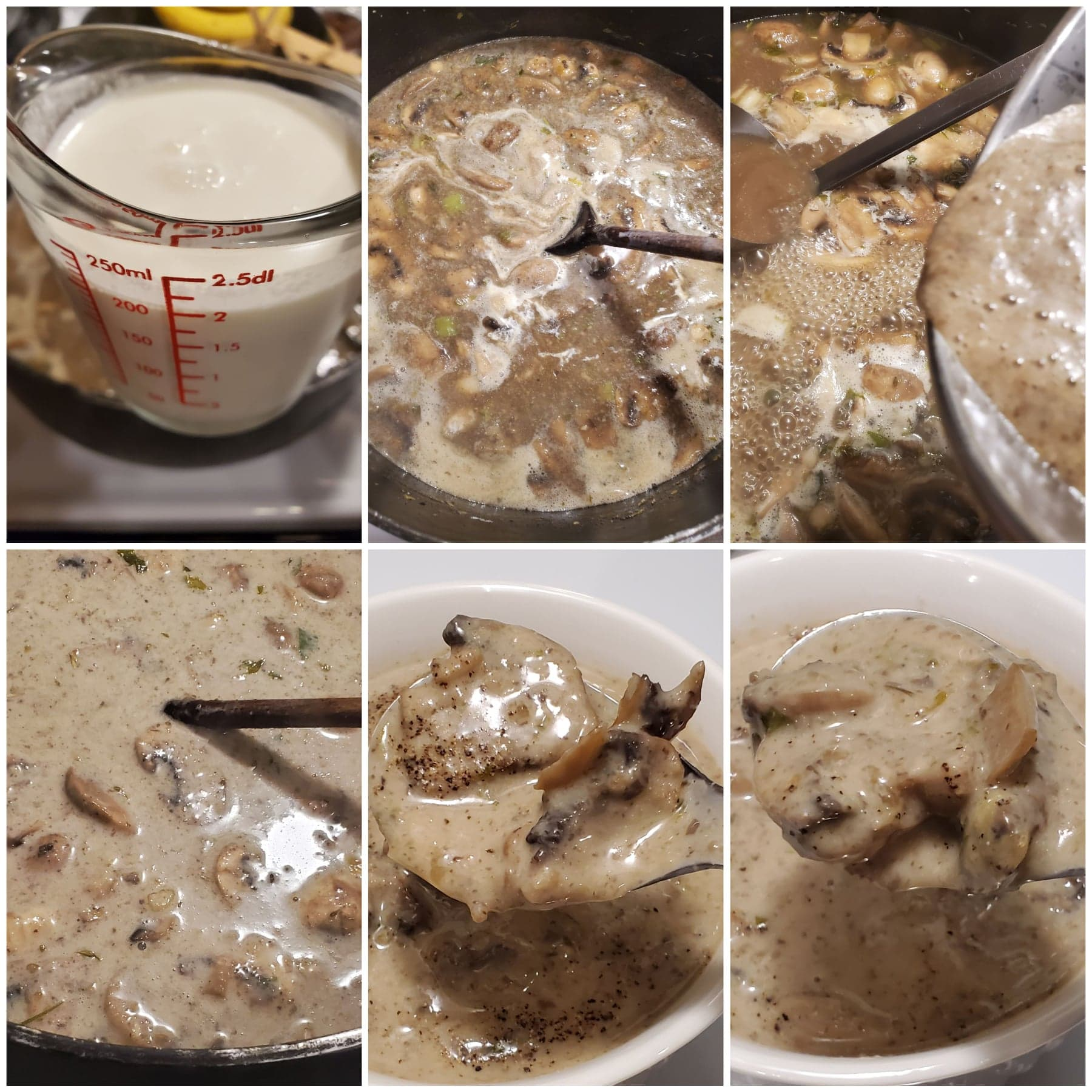 Mushroom soup instructions