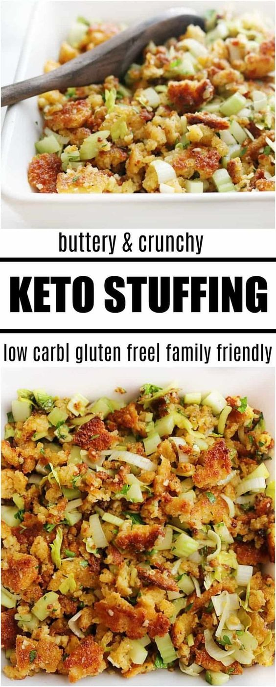 Keto Thanksgiving Stuffing How to make keto stuffing for a turkey