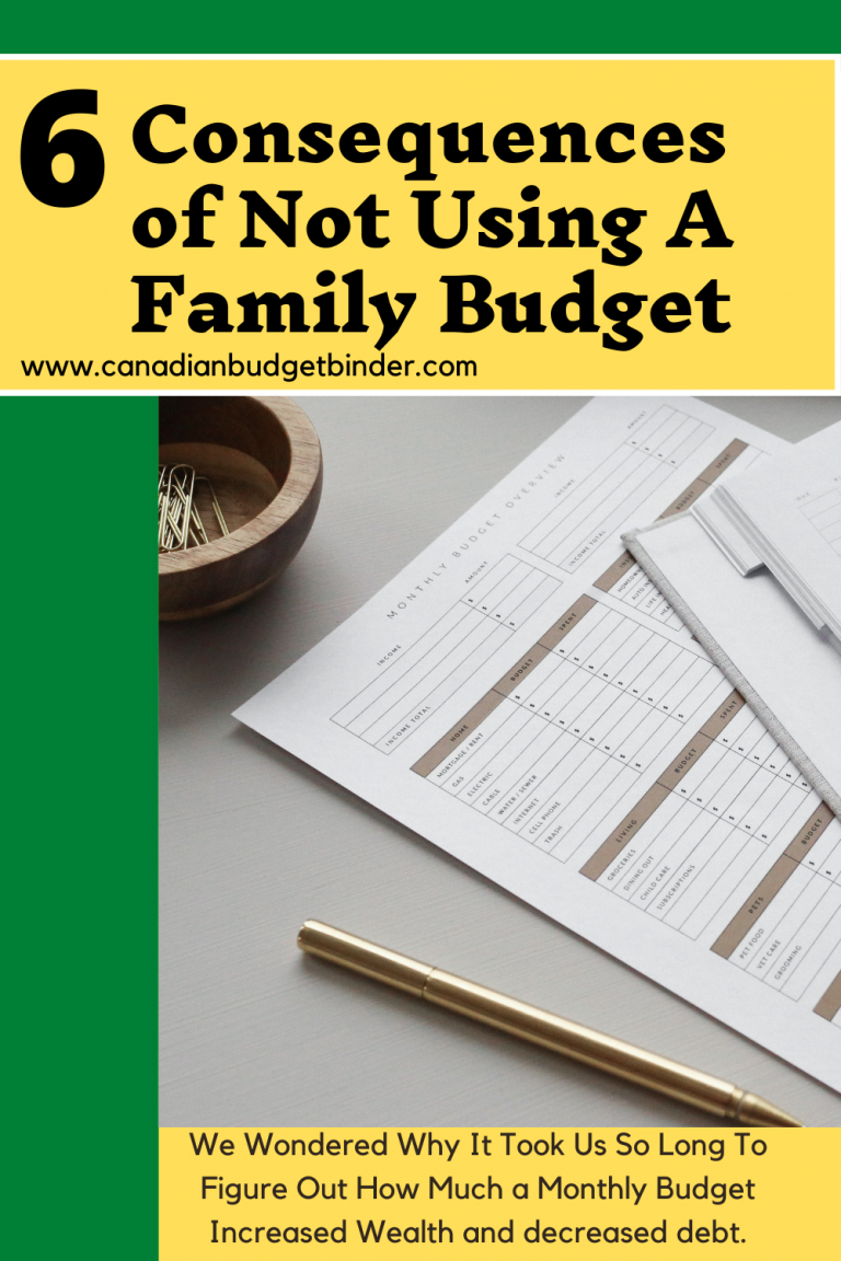6 Consequences Of Not Using A Family Budget : October Budget Update