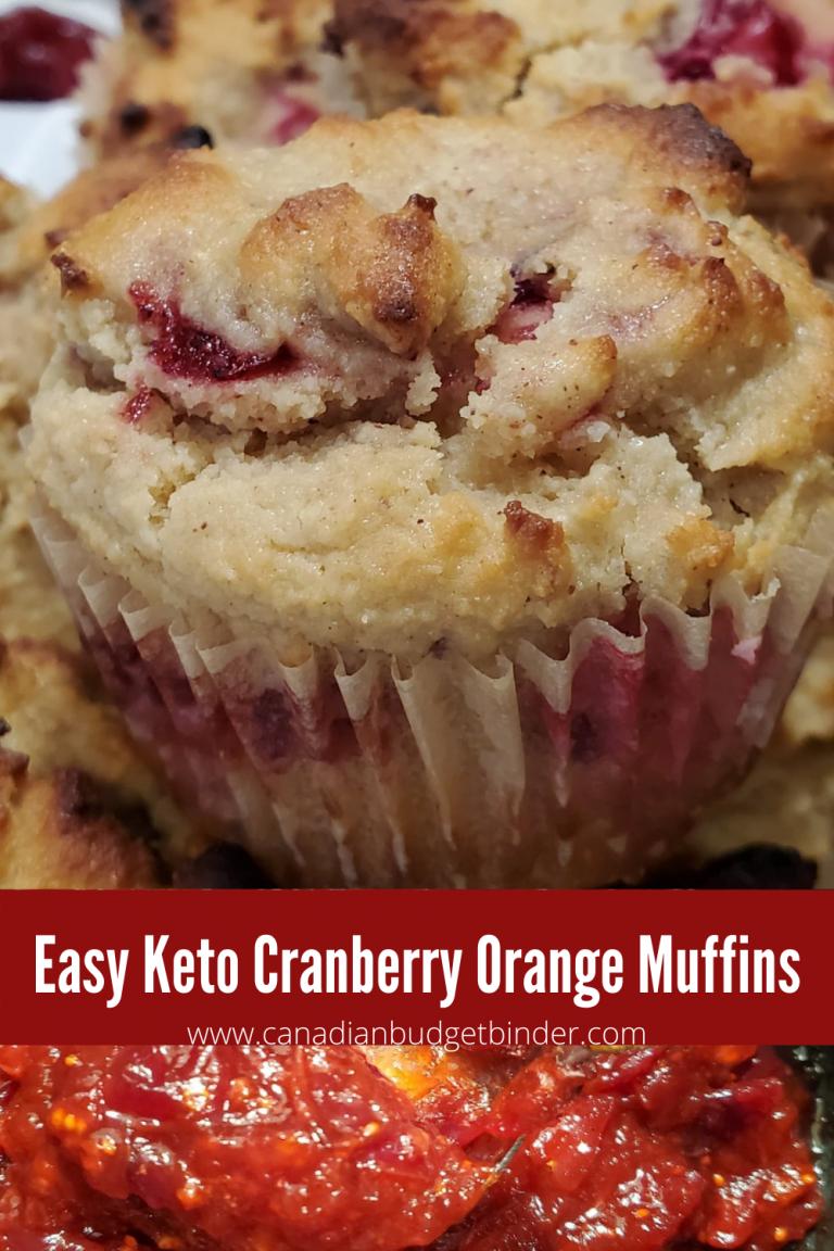 Easy Keto Cranberry Orange Muffins