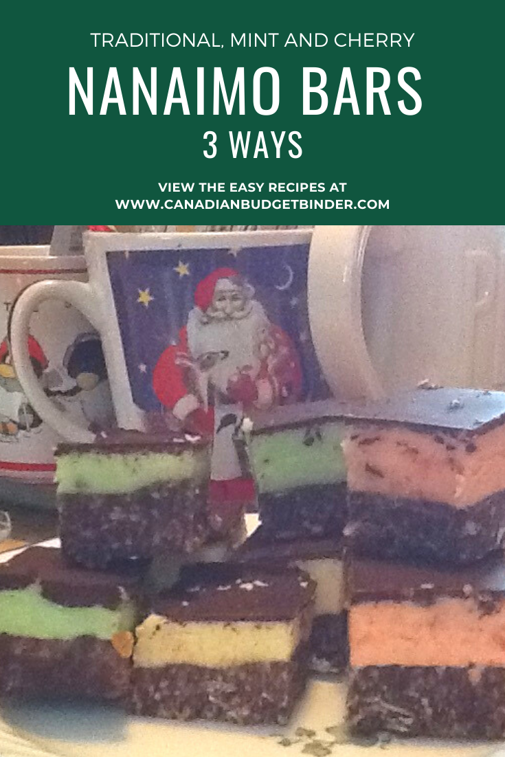 Easy Nanaimo Bars Made Three Different Ways
