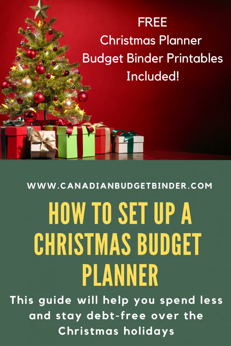 How To Set Up A Christmas Budget Planner (4 Free Budget Binder Printables)