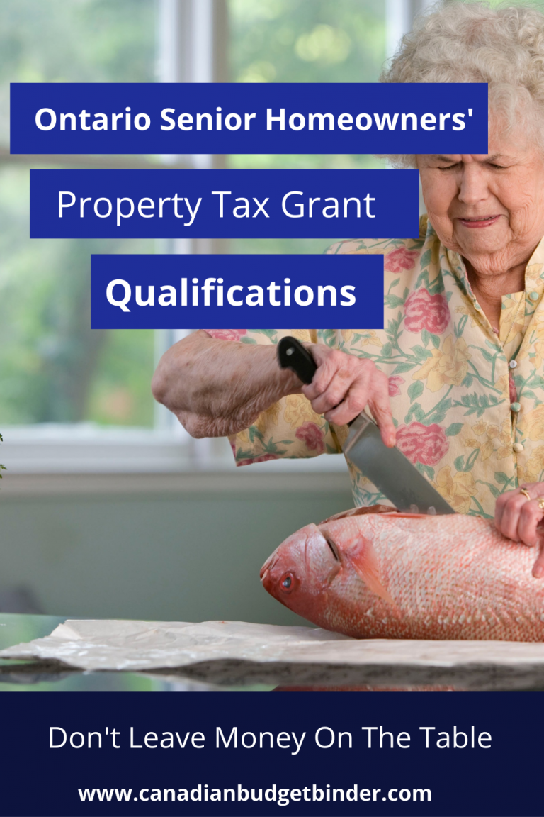 Ontario Senior Homeowners' Property Tax Grant Qualifications