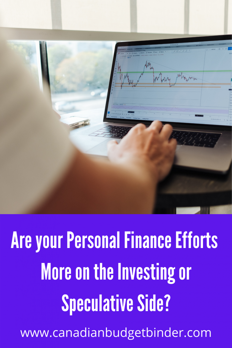 Are Your Personal Finance Efforts More On Investments or The Speculative Side?