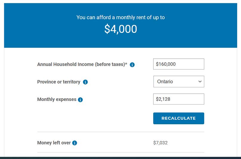 rental costs