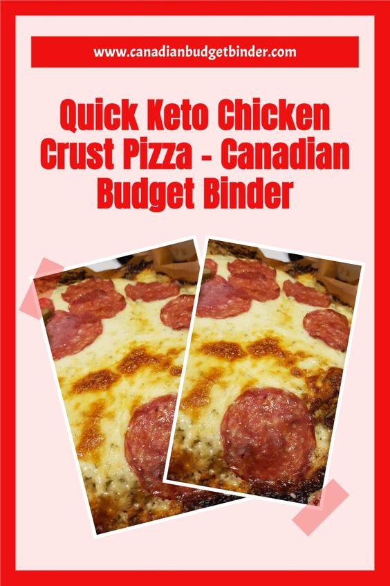 Quick Keto Chicken Crust Pizza