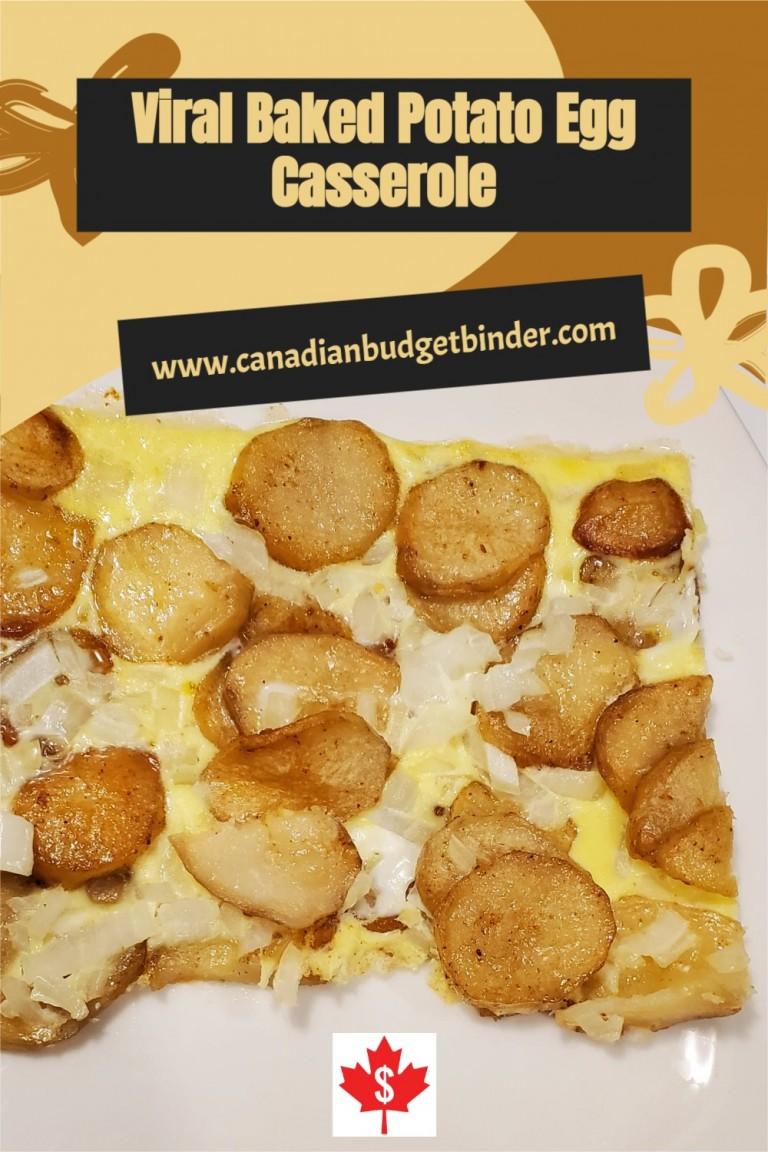 Viral Baked Potato Egg Casserole