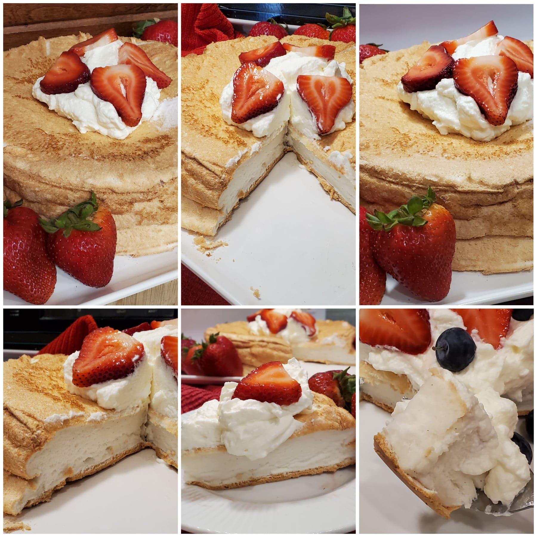 keto angel food cake photos