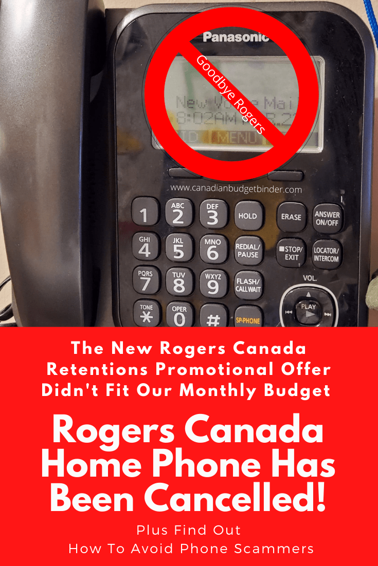 Rogers Canada Home Phone Has Been Cancelled