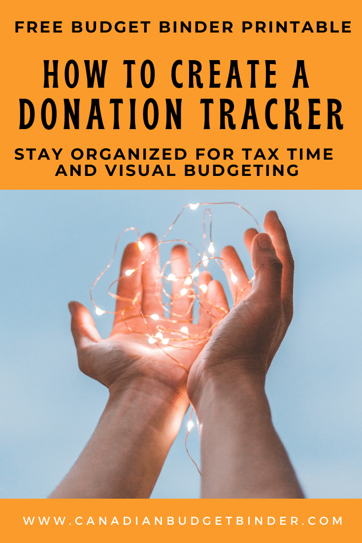 How To Create A Donation Tracker (Budget Binder Printable)
