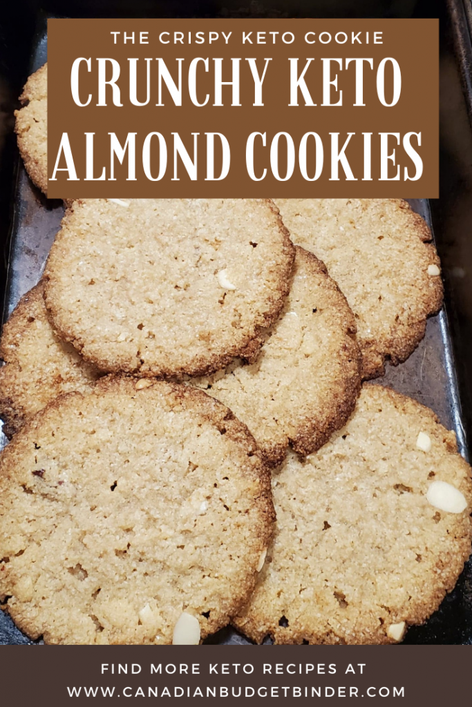 Crunchy Keto Almond Cookies that are sugar-free and gluten-free