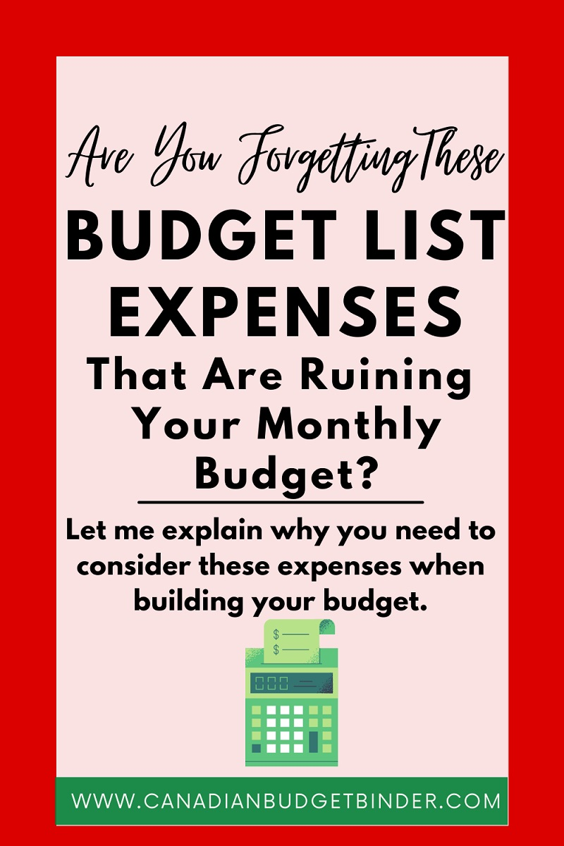 Are You Forgetting These Budget List Expenses?: May 2021 Budget Update