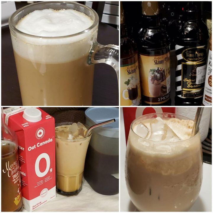 Keto Cold Brew Coffee recipes made with oat milk or macadamia nut milk.