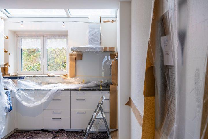 Flipped house kitchen reno before photo