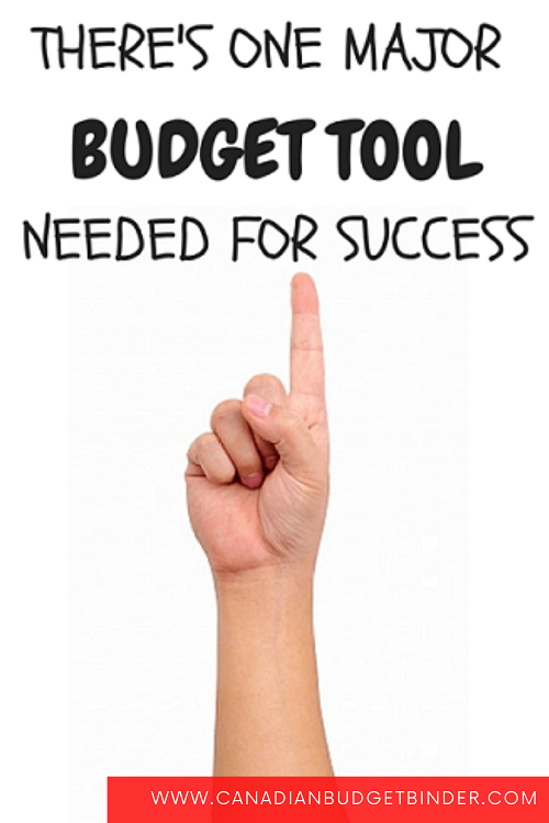 One Budget Tool that everyone needs when working on personal finance.