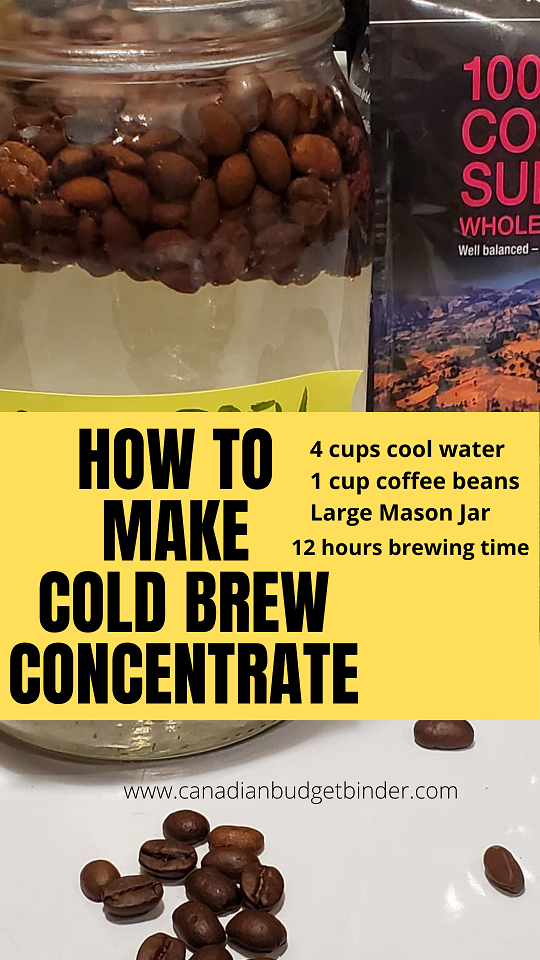 How to make homemade cold brew concentrate at home to cut costs.