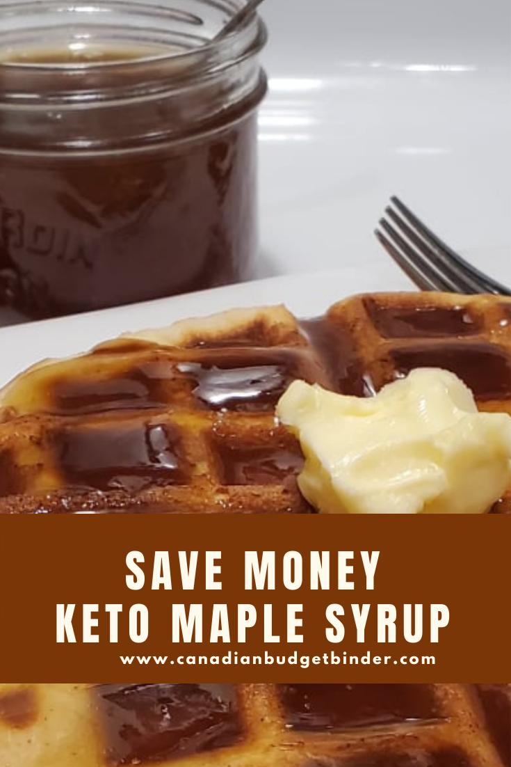 Keto Maple Syrup (Sugar-Free)