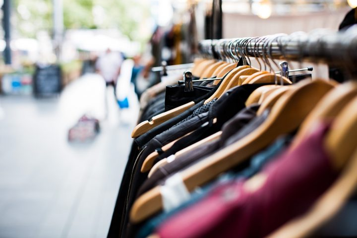 shopping secondhand clothing