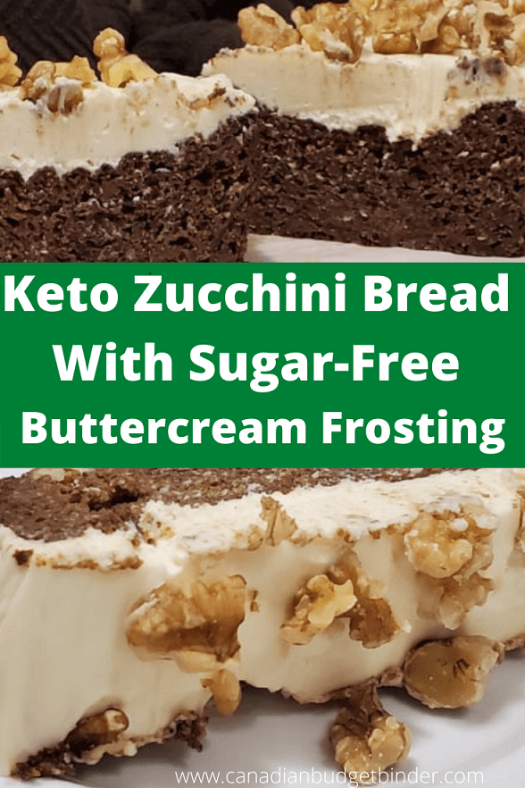 How to make Keto Zucchini Loaf With Walnuts and Buttercream Frosting