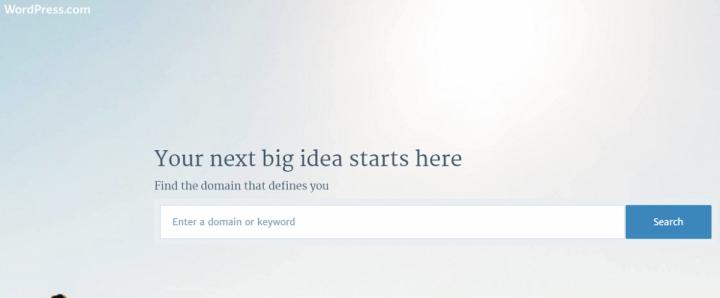 Wordpress.com domain name search