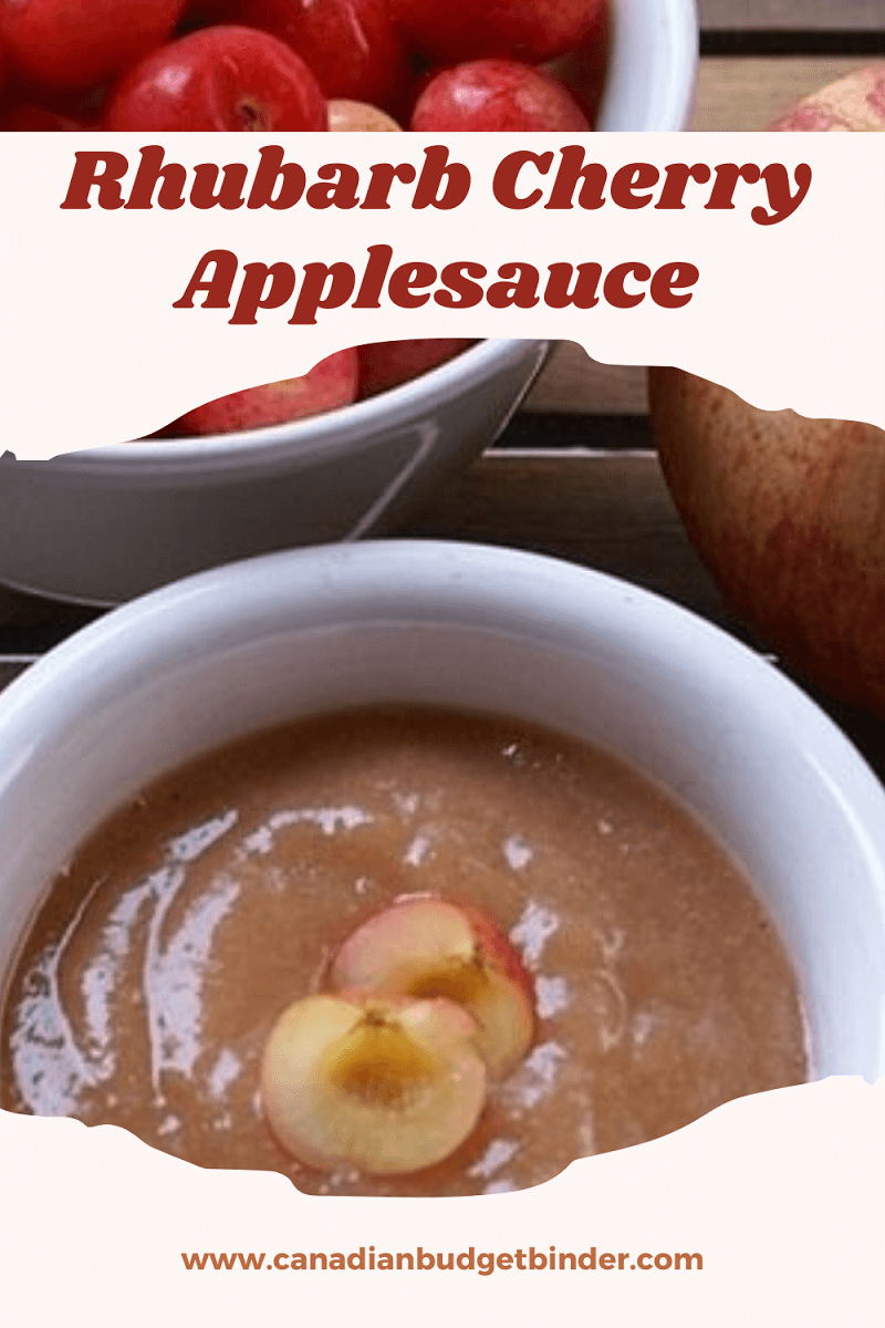 Easy Rhubarb Cherry Applesauce