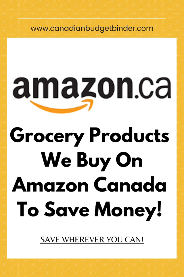 Grocery Products we buy on Amazon Canada for the best prices including keto products.