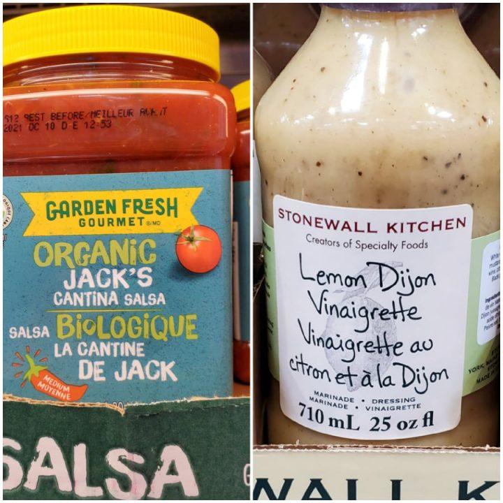 Organic Jack's Cantina Salsa and Stonewall Kitchen Lemon Dijon Vinaigrette Keto Costco Canada