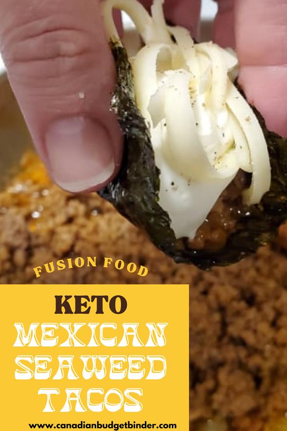 How To Make Keto Fusion Mexican Korean Seaweed Tacos