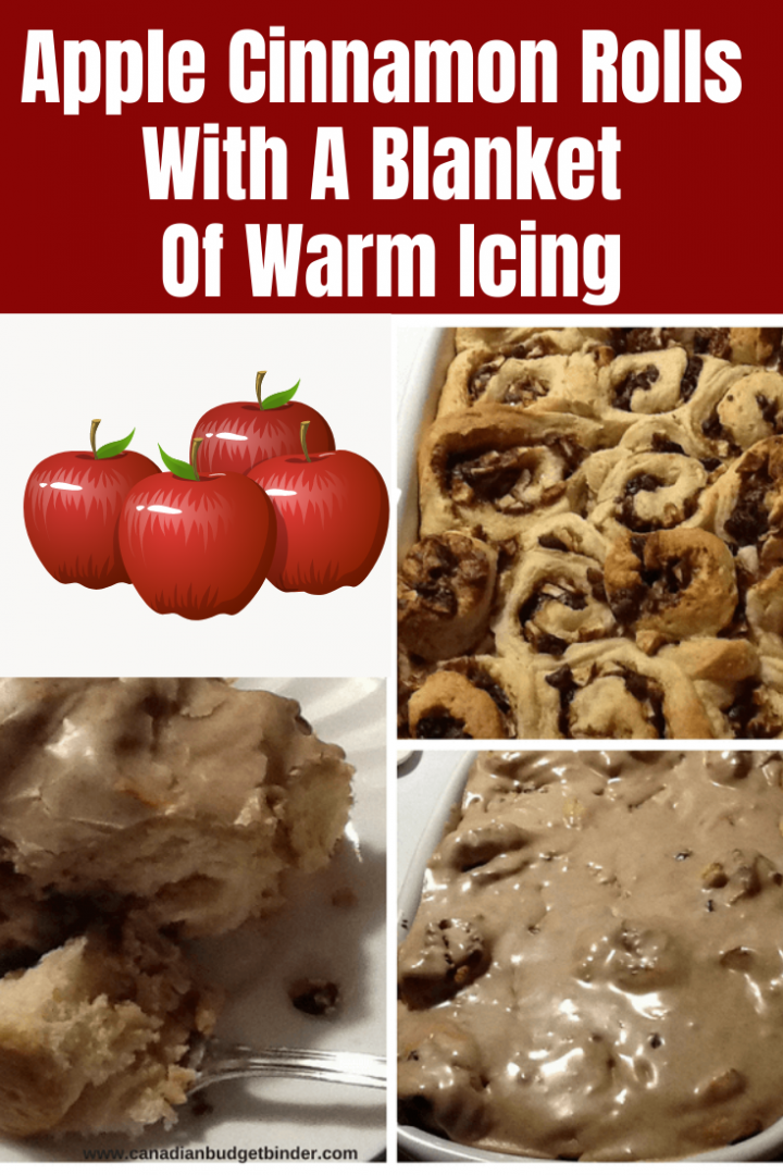 Apple Cinnamon Rolls With A Blanket Of Warm Icing