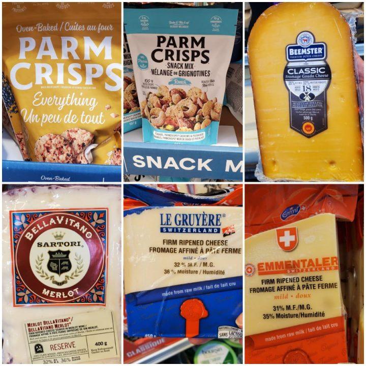 Costco Canada Keto Cheeses and cheese snacks