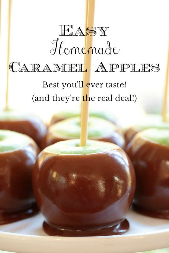 How to make homemade caramel apples one of the most popular Autumn Recipes
