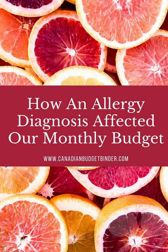 How An Allergy Diagnosis Affected Our Budget