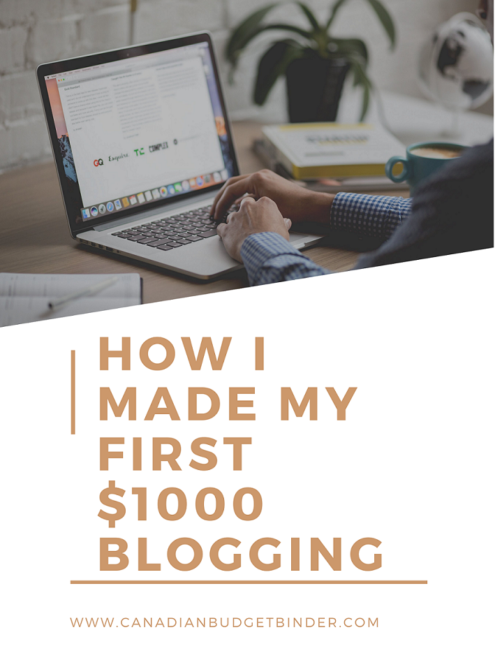 How I Made My First $1000 Blog Income