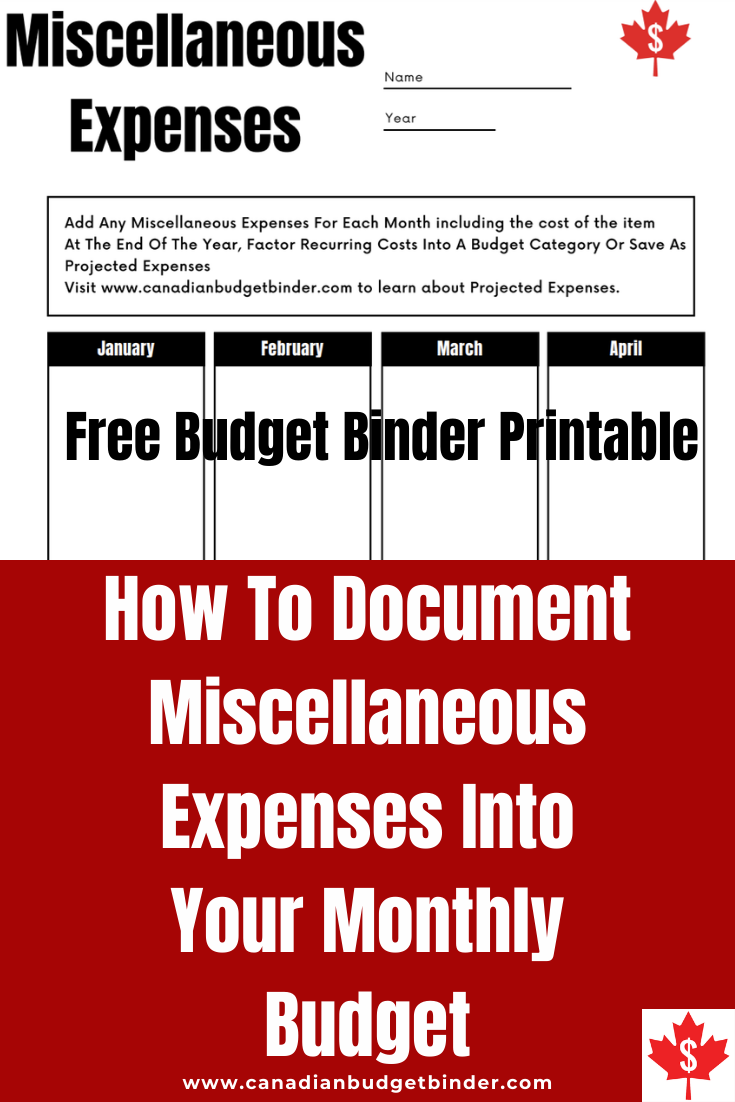 How To Document Miscellaneous Expenses: August 2021 Budget Update