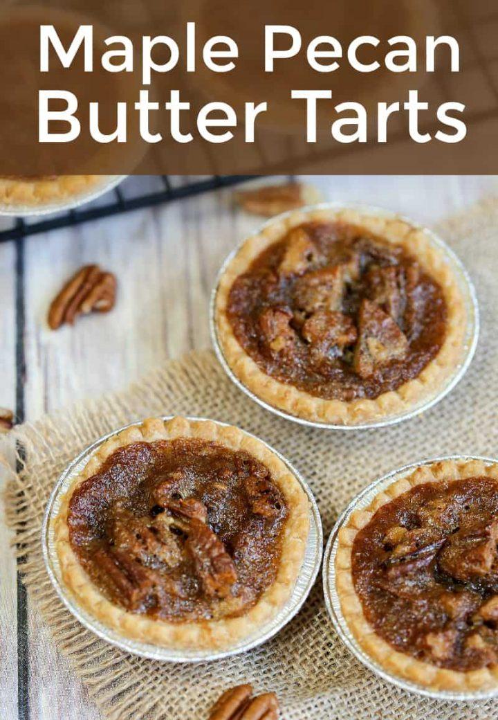 Canadian Maple Pecan Butter Tarts Autumn Recipes