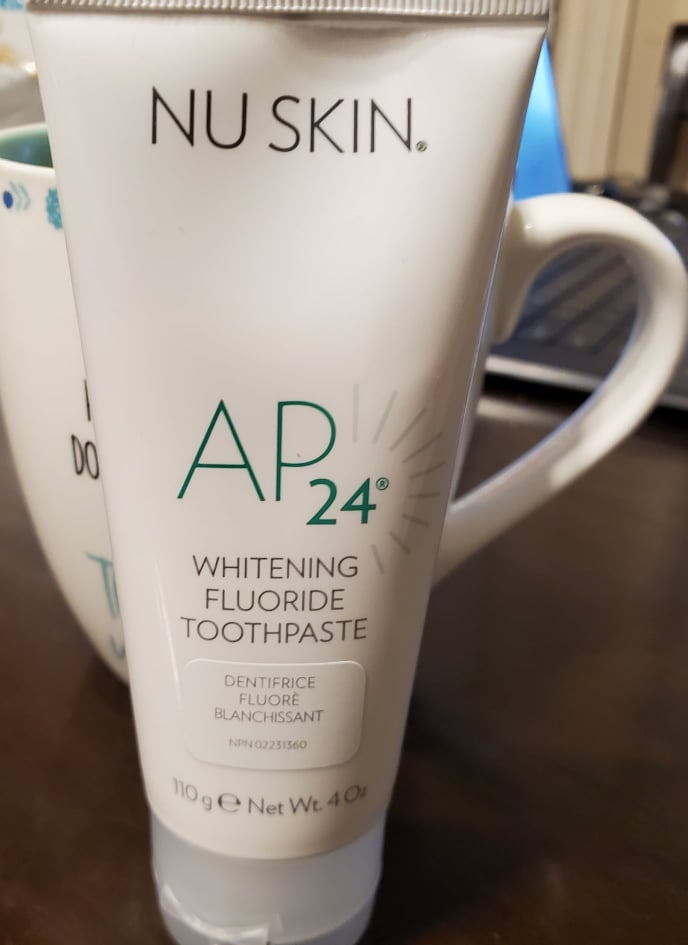 NuSkin 24 Whitening Tooth Flouride  fragrance free and limonene free.