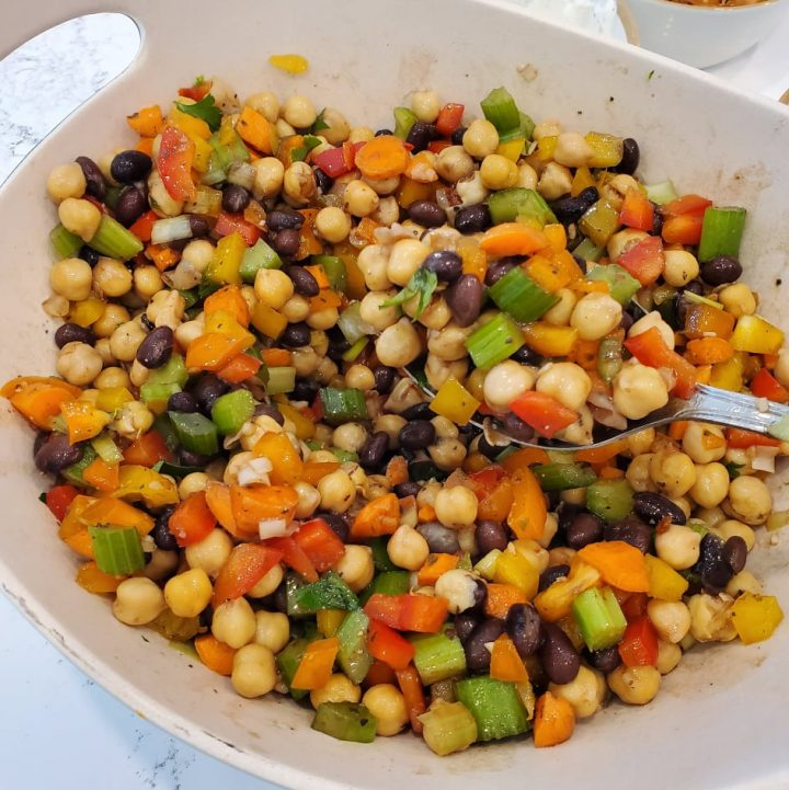 Black Bean and Corn Salad (with chickpeas)