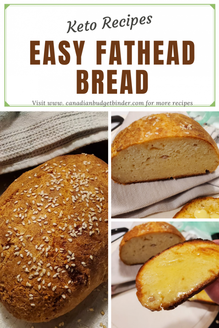 Easy Keto Fathead Bread with toasted sesame seeds