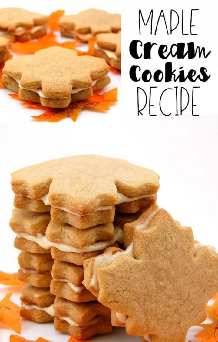 Canadian Maple Cream Cookies Autumn Recipes