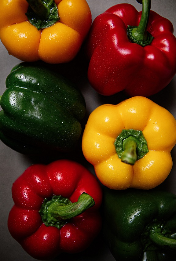 Garden Fresh Peppers Orange, Red and Green