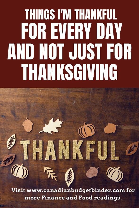 5 Things I'm Thankful For And Not just On Thanksgiving Day
