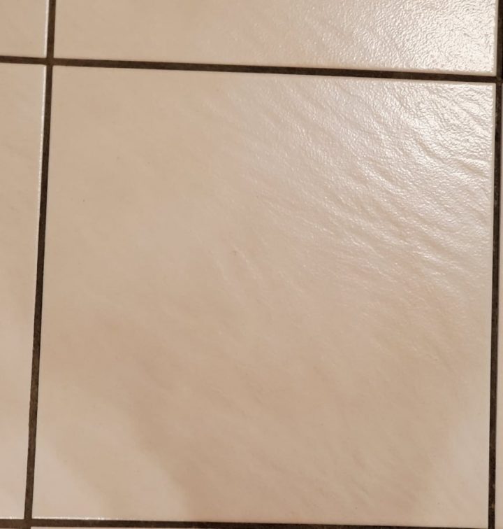 Pink Tiles with Black Dirty White Grout